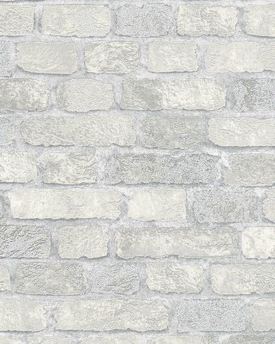 Non-Woven Wallpaper brick 3D granules cream grey 58411