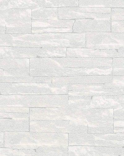 Vliestapete 3D Sandsteinwand hellgrau Brique 58414 online kaufen