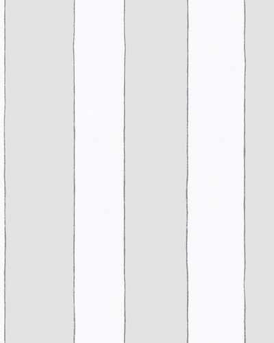 Kids Wallpaper Stripes grey white Jonas Koetz 31101