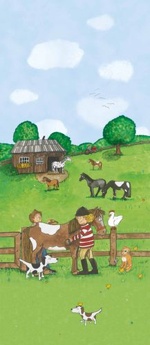 Photo Wallpaper Kids Pony Farm green Jonas Koetz 46501 online kaufen