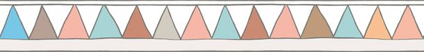 Kids Border Zigzag colourful white Jonas Koetz 46516