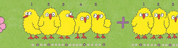 Kids Border Chicks Count green yellow Jonas Koetz 46520