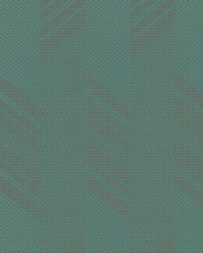 Non-Woven Wallpaper Herringbone dark green Gloss 30803
