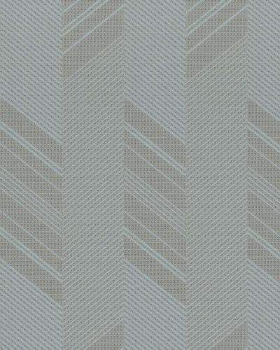 Non-Woven Wallpaper Herringbone taupe blue Gloss 30805