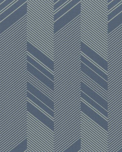 Non-Woven Wallpaper Herringbone blue beige Gloss 30807