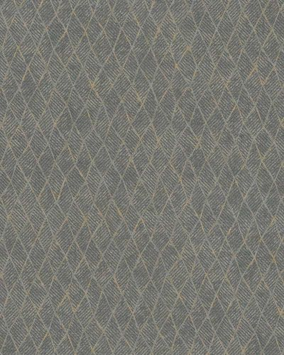 Non-Woven Wallpaper Rhombus dark grey gold Gloss 30810