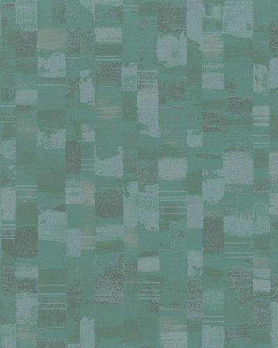 Vliestapete Mosaik grün silber Glanz 30817