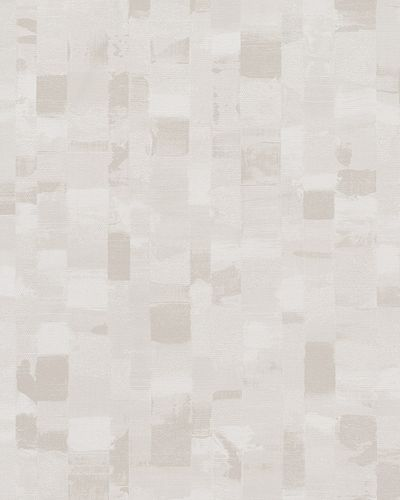 Non-Woven Wallpaper Mosaic white beige cream Gloss 30818