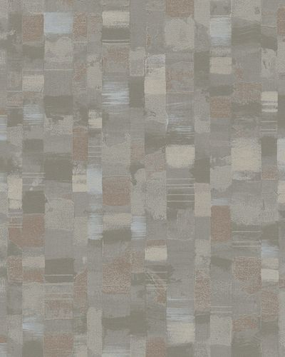 Non-Woven Wallpaper Mosaic taupe brown Gloss 30819