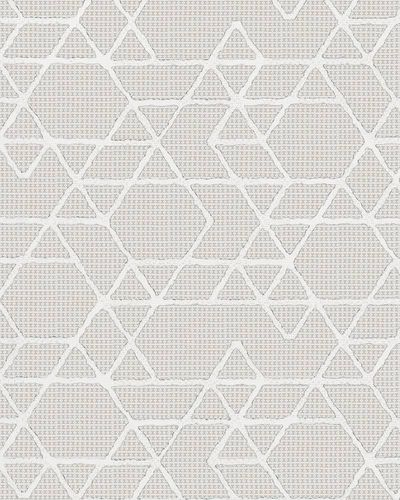 Non-Woven Wallpaper Triangle cream white Gloss 30820