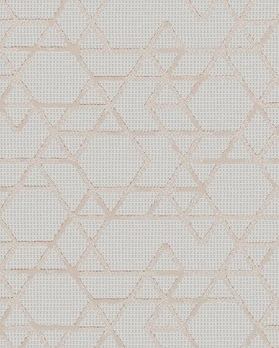 Non-Woven Wallpaper Triangle cream orange Gloss 30821 online kaufen