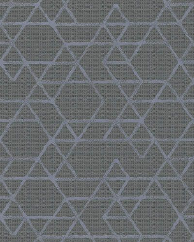 Non-Woven Wallpaper Triangle grey purple Gloss 30822