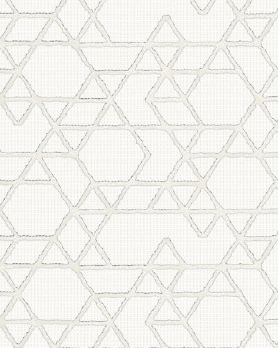 Non-Woven Wallpaper Triangle cream gold Gloss 30823