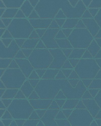 Non-Woven Wallpaper Triangle blue green Gloss 30824