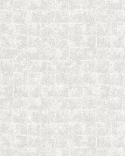 Non-Woven Wallpaper Square white light grey Gloss 30826