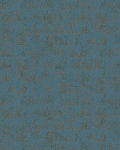 Non-Woven Wallpaper Square green blue copper Gloss 30827