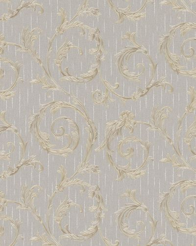 Non-Woven Wallpaper Tendril Floral taupe Gloss 30609 online kaufen