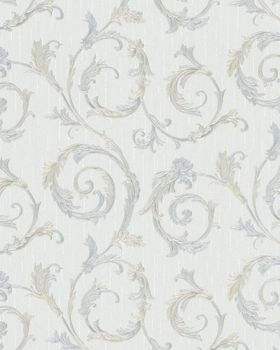 Non-Woven Wallpaper Tendril Floral grey Gloss 30612 online kaufen