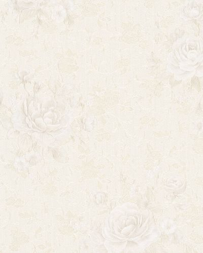 Non-Woven Wallpaper Roses Vintage cream Gloss 30615