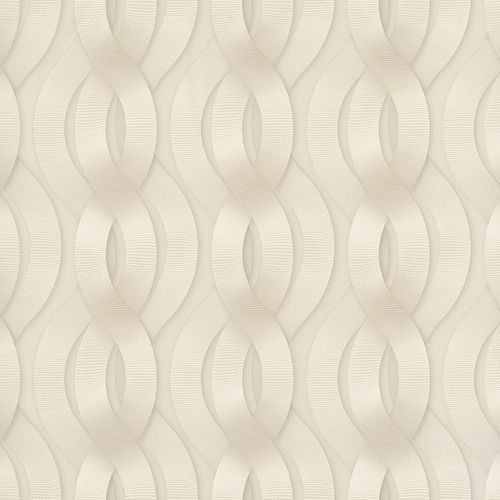 Non-Woven Wallpaper Colani Legend Wave beige Gloss 59801