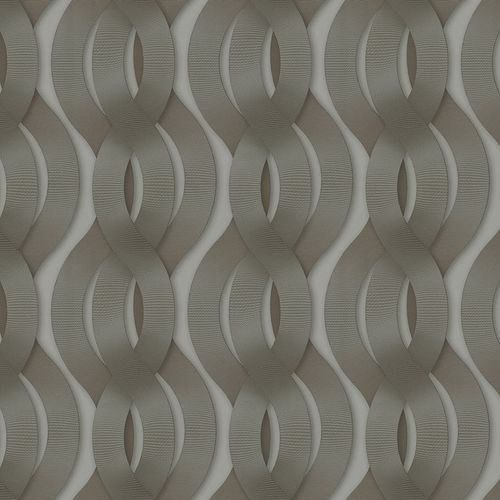 Non-Woven Wallpaper Colani Legend Wave silver Gloss 84042 online kaufen