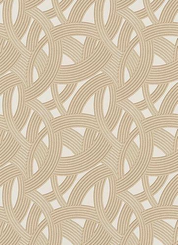Non-Woven Wallpaper 3D Wave beige brown Metallic 6390-02 online kaufen
