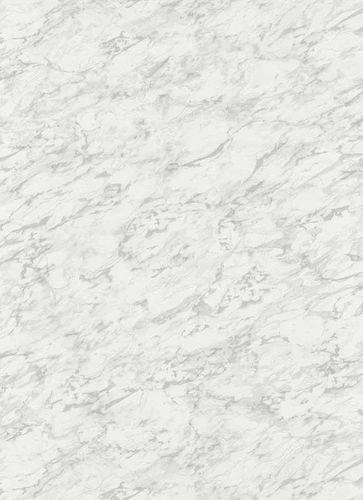 Non-Woven Wallpaper Marble grey white Glitter 6392-10
