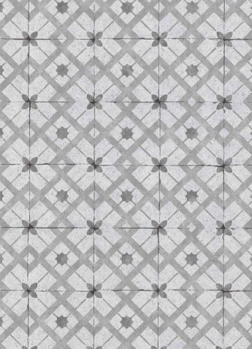Vinyl Wallpaper Tiles Retro grey anthracite 6366-15 online kaufen