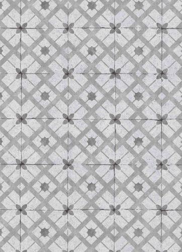 Vinyl Wallpaper Tiles Retro grey anthracite 6366-15