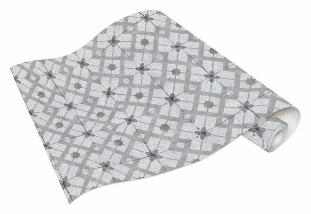 Vinyl Wallpaper Tiles Retro grey anthracite 6366-15 online kaufen