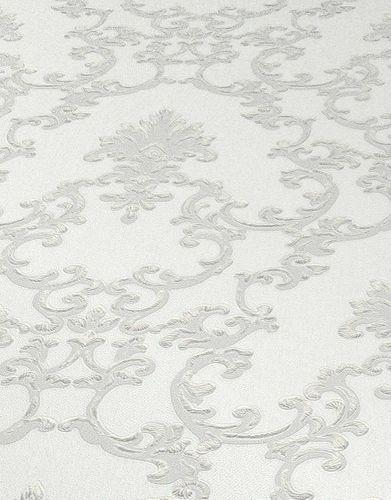 Vinyltapete Ornament Textil weiß grau Metallic 6376-01 online kaufen
