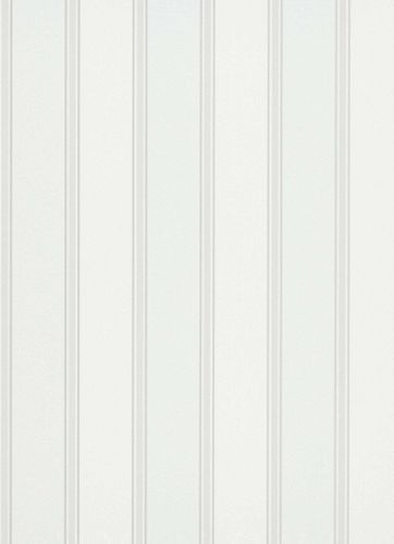 Vinyl Wallpaper Block Stripes white silver Gloss 6377-01