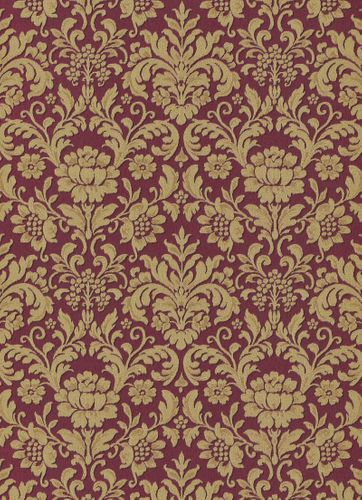 Vinyl Wallpaper Baroque Floral red gold Metallic 6378-06 online kaufen