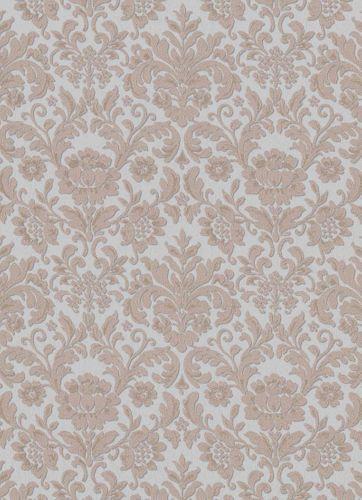 Vinyltapete Barock Floral Textil grau braun 6378-31 online kaufen