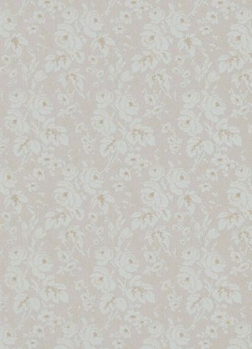 Vinyl Wallpaper Rose Tendrils Textile grey brown 6379-31