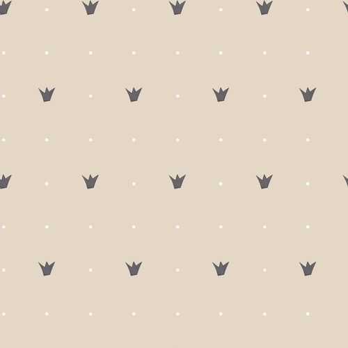 Kids Wallpaper crown dots beige anthracite 005411 online kaufen