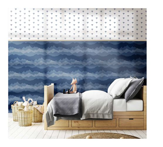 Kids Wallpaper airplane white dark blue Babylandia 005422 online kaufen