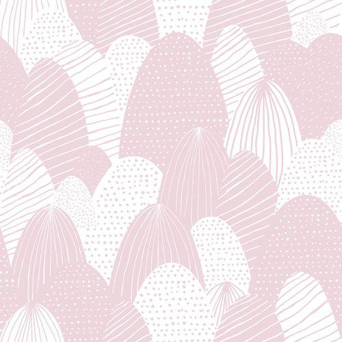Kids Wallpaper eatser eggs pink white Babylandia 005424