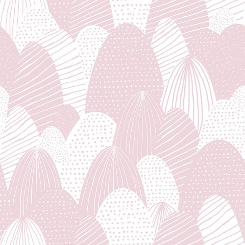 Kids Wallpaper eatser eggs pink white Babylandia 005424 online kaufen