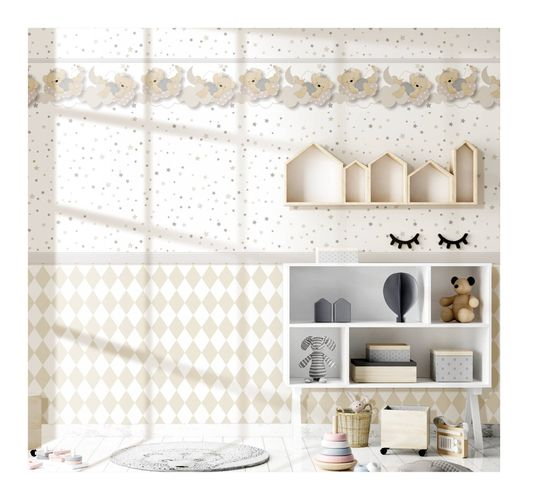 Kids Wallpaper diamonds white beige Babylandia 005427 online kaufen