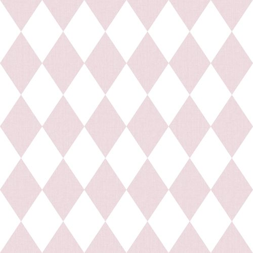 Kids Wallpaper diamonds white pink Babylandia 005428 online kaufen