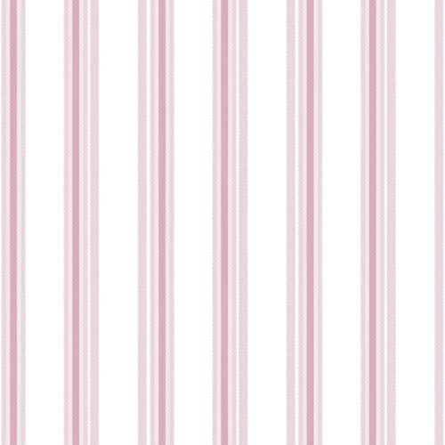 Kids Wallpaper stripped white pink Babylandia 005434 online kaufen