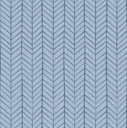 Kids Wallpaper stripped herringbone blue 005449 online kaufen