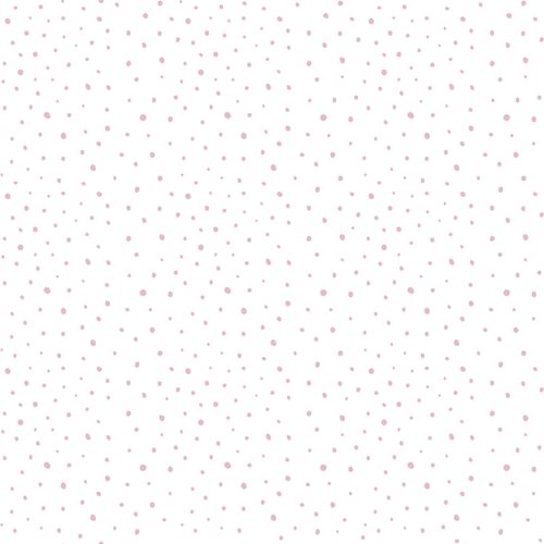 Kids Wallpaper dots white pink Babylandia 005452
