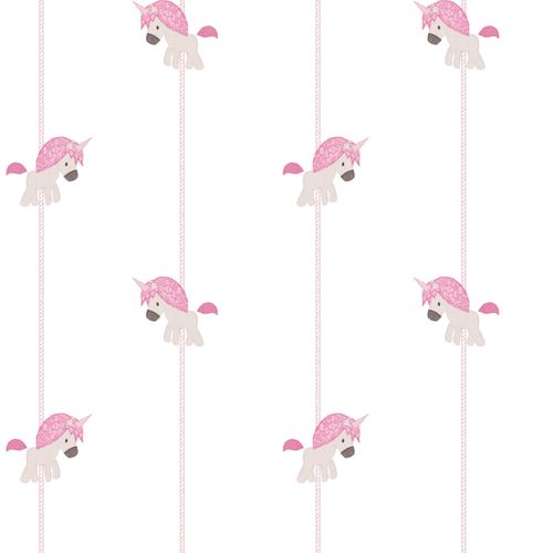 Kids Wallpaper unicorn stripped white pink 005455 online kaufen