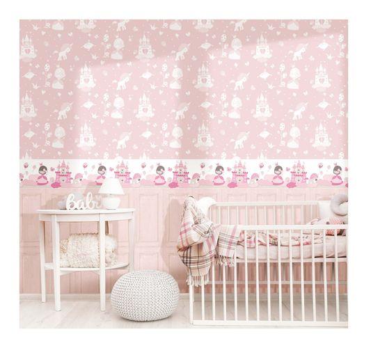 Kids Border princess castle white pink Babylandia 005498 online kaufen