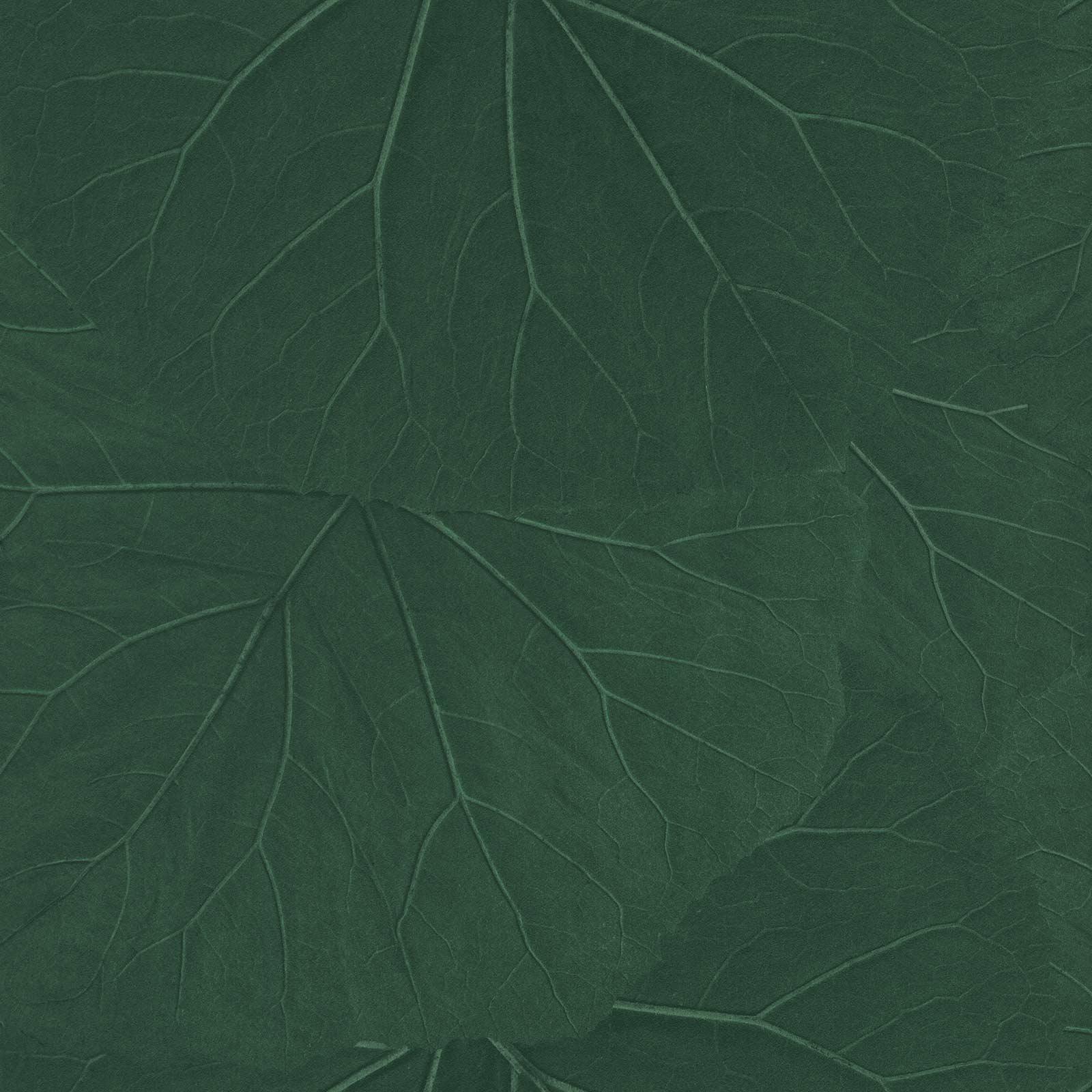 Non Woven Wallpaper Leaves 3d Floral Dark Green 138997