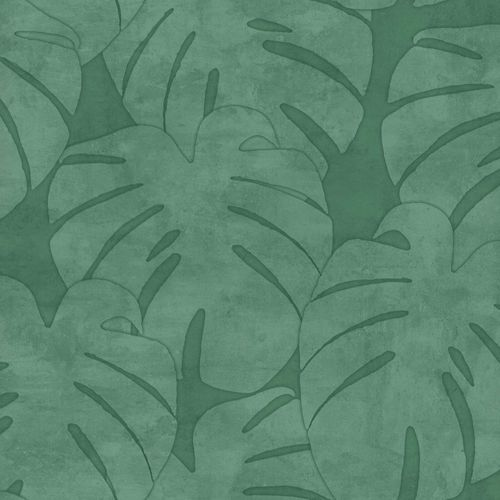 Non-Woven Wallpaper Leaves Watercolour dark green 139004 online kaufen