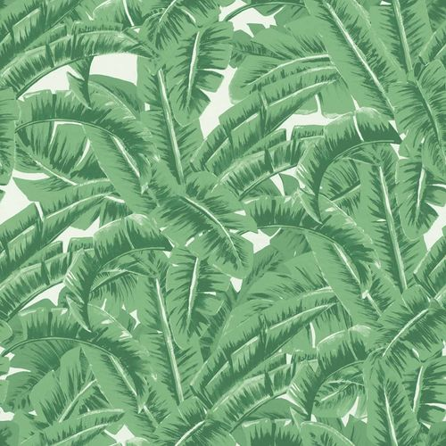 Non-Woven Wallpaper Leaf Jungle green white 138984 online kaufen