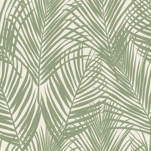Non-Woven Wallpaper Fern Textile grey green 039006 online kaufen